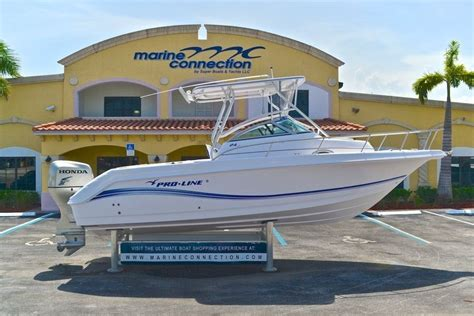 Used Proline Boats by Used 2006 Pro Line 24 Walk Boat For Sale In West Palm