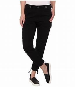 Hudson Rowan Slouchy Skinny Cargo Pants In Black in Black