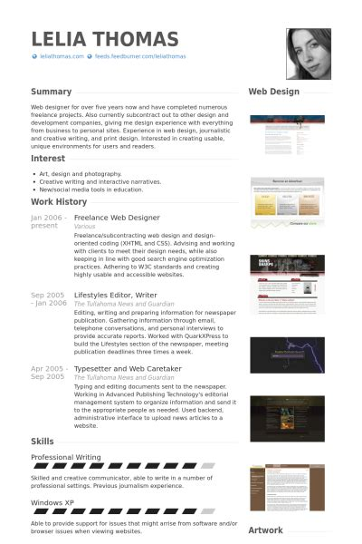 Resume Of A Freelance Web Developer by Freelance Web Designer Resume Sles Visualcv Resume Sles Database