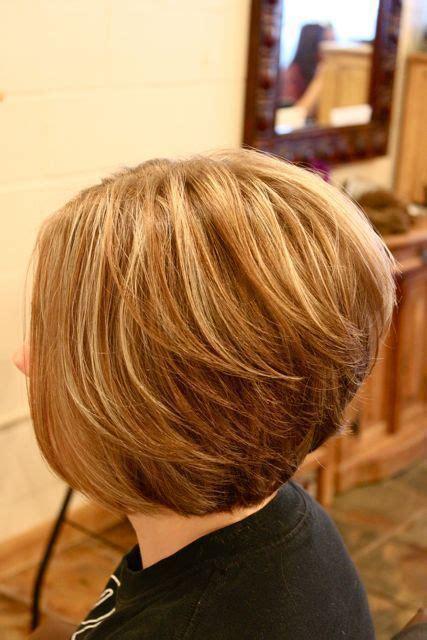 stacked bob hairstyles back view nails makeup pinterest