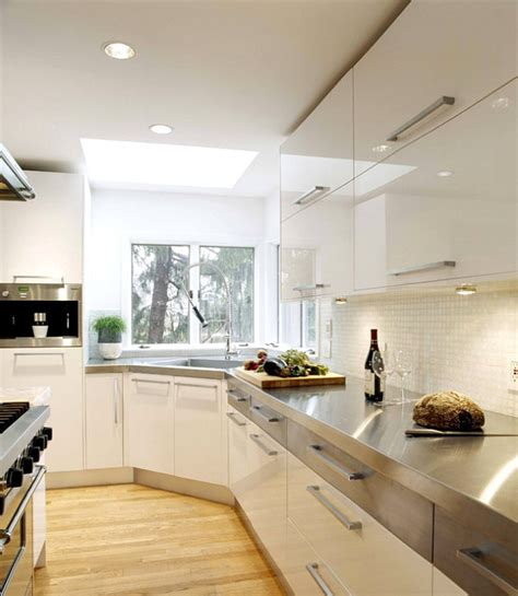 kitchen counter and backsplash ideas 15 kitchens with stainless steel countertops