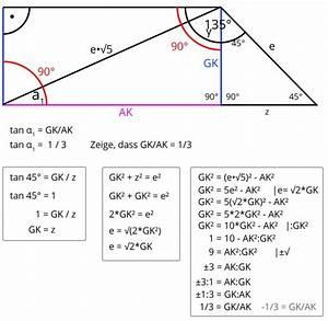 Trigonometrie Seiten Berechnen : trigonometrie zeigen sie ohne verwendung gerundeter werte dass gilt tan 1 1 3 trapez ~ Themetempest.com Abrechnung