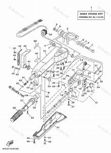 Yamaha Outboard Parts By Hp 40hp Oem Parts Diagram For Steering F40mh