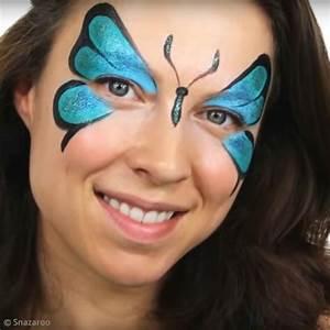 Maquillage Enfant Facile : diy maquillage rapide papillon bleu id es conseils et ~ Farleysfitness.com Idées de Décoration