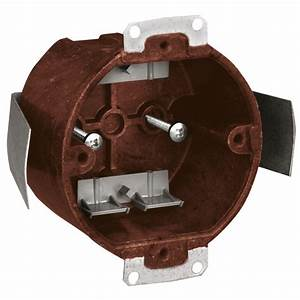In round ceiling fixture outlet box case of