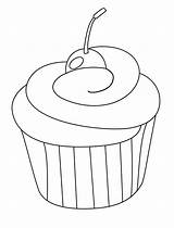 Cupcake Coloring Pages Cherry Ice Cream Cupcakes Colouring Cat Cakes Printable Cookie Drawing Biscuit Desenho Cookies Cherries Sheets Baking Cute sketch template