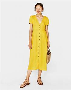 shoptagr long dress with buttons by bershka With robe longue bershka