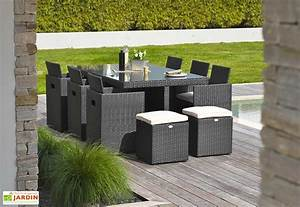 stunning table de jardin resine et verre pictures With awesome table de jardin aluminium leroy merlin 8 salon jardin isa resine tressee gris 1 banquette 2