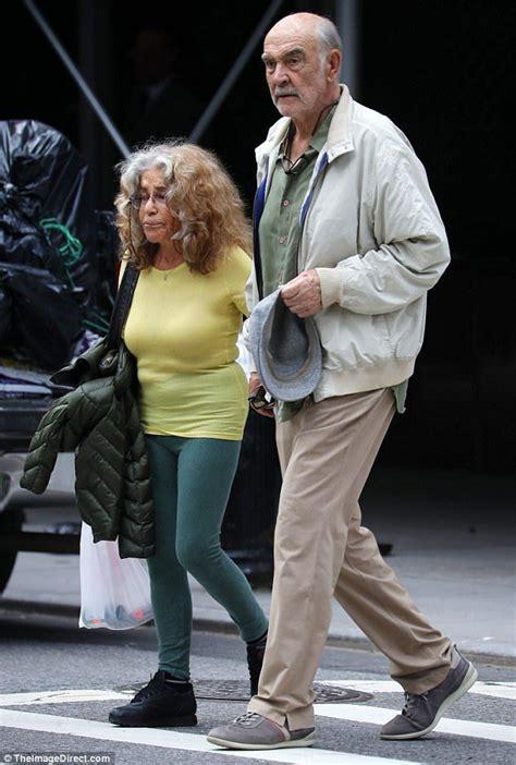 sean connery strolls  nyc   wife micheline