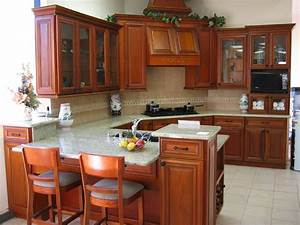 Cabinets living room, color schemes with cherry cabinets