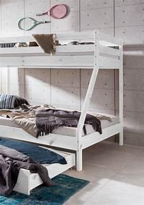 Hochbett 1 40 : hochbett etagenbett mike weiss 140 x 90 x 200 cm ~ Indierocktalk.com Haus und Dekorationen