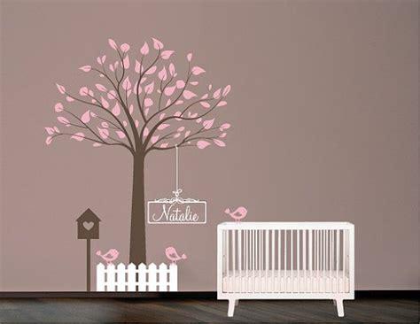pochoir mural chambre pochoir mural arbre avec oiseaux nichoir et nom pochoir