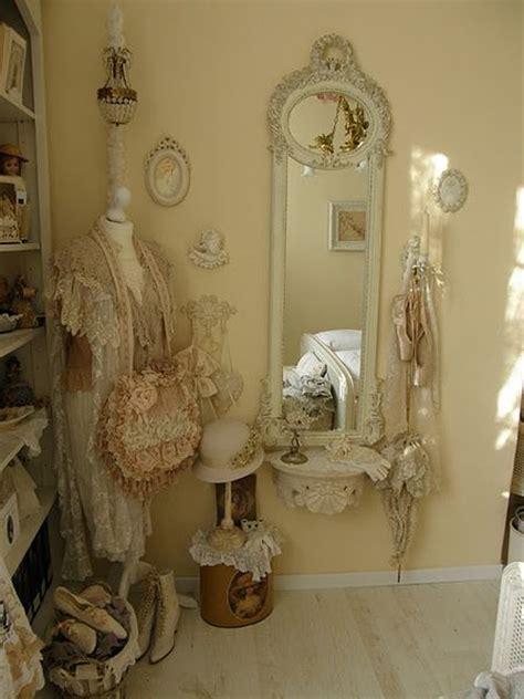 shabby chic bedroom mirror beautiful convex mirror and feminine on pinterest