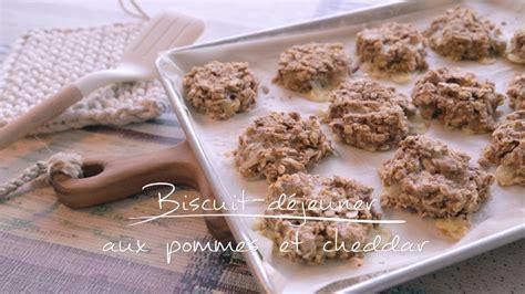biscuit déjeuner aux pommes et au cheddar cuisine futée parents pressés zone vidéo télé québec