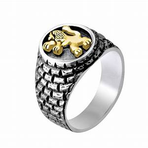 Israeli Jewelry Designers Jerusalem Buy Silver And Gold Lion Of Judah Jerusalem Wall Ring