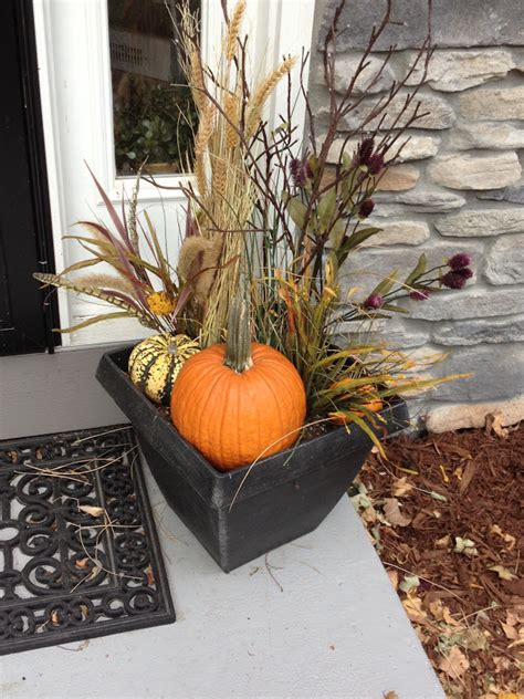 Our Hobby House Outdoor Fall Floral Arrangements