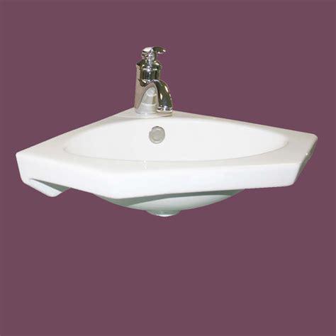 Modern Wall Mount Bathroom Sinks by Modern Bathroom Wall Mount Corner Sink White Single Faucet