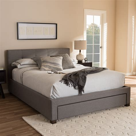Upholstered Bed Frame With Storage by Wholesale Interiors Baxton Studio Upholstered Storage