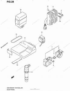 Suzuki Motorcycle 2001 Oem Parts Diagram For Electrical