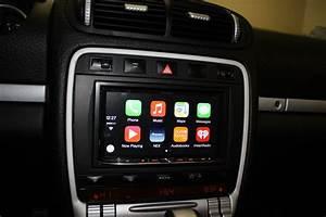 Porsche Cayenne Navigation Upgrade - Double Din Pioneer Avic-8100nex Navigation Installed