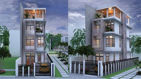 narrow house  stories house plan design sketchup lumoin