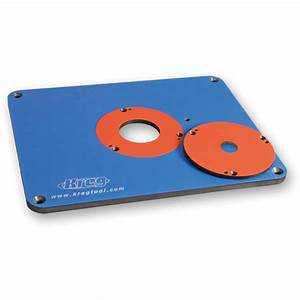 kreg precision router table insert plate With kreg router plate template