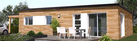 maison ossature bois plain pied toit plat lv39 jornalagora