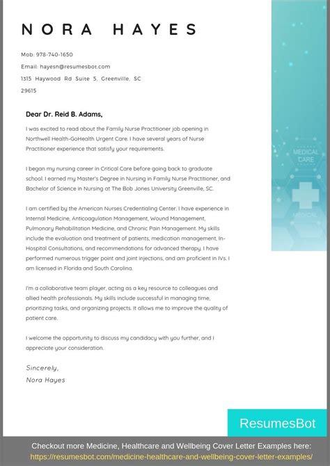 nurse practitioner cover letter samples templates