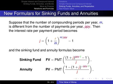 sinking fund formula math time value of money