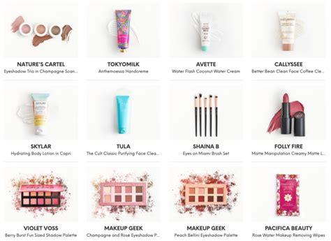 ipsy reveals     february  glam bag ultimate msa