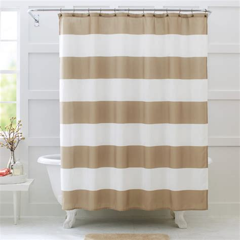 striped shower curtain better homes and gardens porter stripe fabric shower
