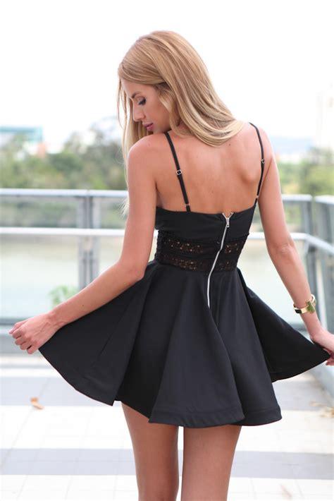 hot sexy black summer casual sleeveless skater evening