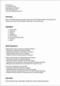 Gallery of Fashion Resume Templates