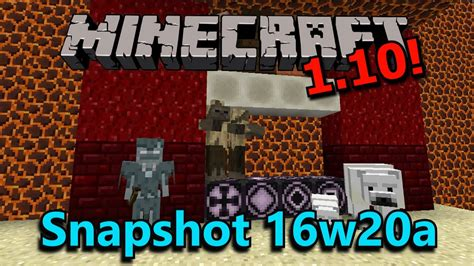 Minecraft 110 Snapshot 16w20a New Blocks, New Mobs, New
