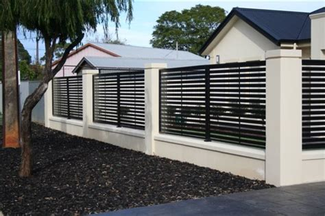 modern metal fence design modern fencing modern home fencing and gates adelaide by hindmarsh fencing wrought