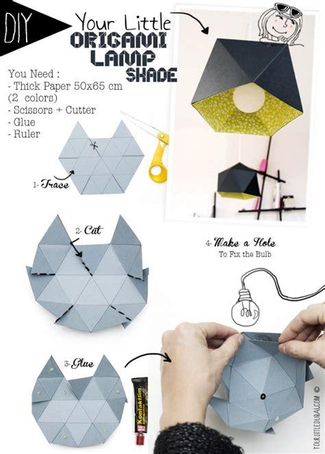 abat jour origami diy abat jour vide poche origami