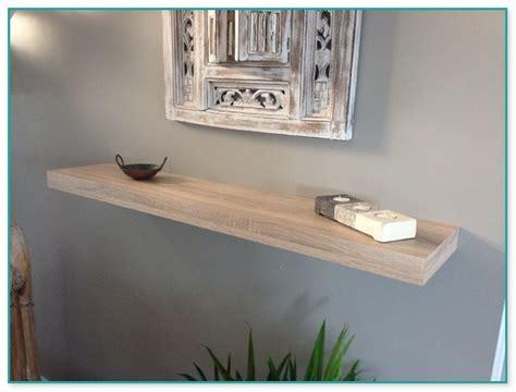 light wood floating shelves