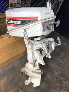 1  Used 4 5 Hp Johnson Outboard Motor    Lot 38