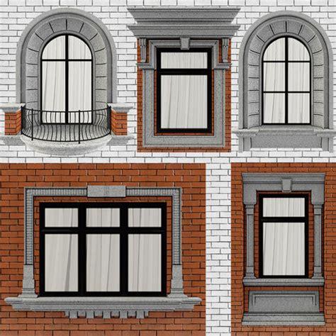 classic frame window   cgtrader