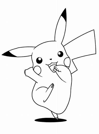 Coloring Cartoon Pages Pikachu