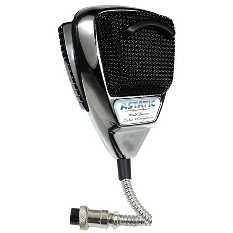 astatic 636l noise canceling 4 pin cb microphone chrome edition