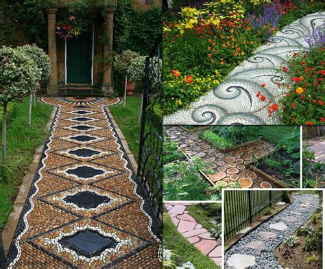 outdoor brick paint 12 lovely garden path and walkways ideas home and