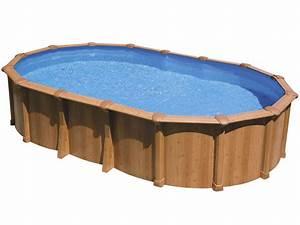 Piscine Acier Imitation Bois : piscine aspect bois en acier ovale osmose x ~ Dailycaller-alerts.com Idées de Décoration