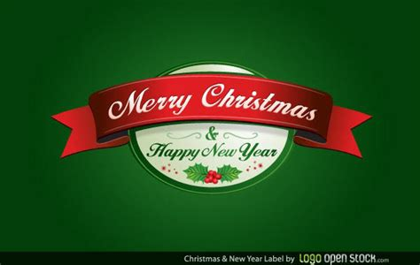 We have 1683 free happy new year vector logos, logo templates and icons. Merry Christmas and Happy New Year Label Vector Free