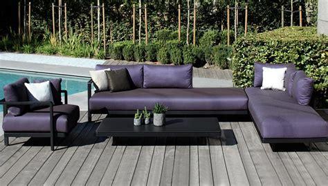 canap de jardin design salon de jardin canapé fauteuil bas et banquette