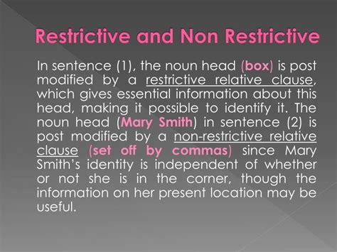 Non Essential Clause Sentences