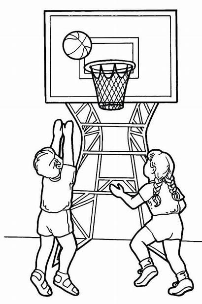 March Coloring Pages Madness Printable Basketball Playing