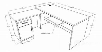 Meja Ukuran Kantor Standar Kerja Furniture Dapat