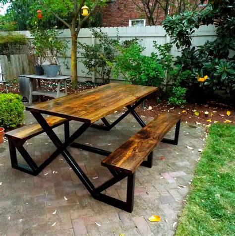industrial wood metal outdoor patio ideas