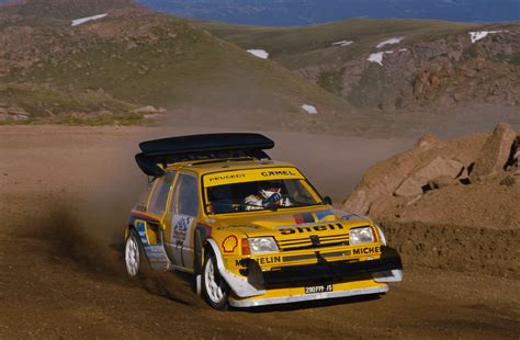 peugeot 205 t16 pikes peak 1987 rally b shrine 1987 peugeot 205 t16 pikes peak peugeot supercars net